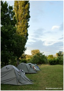 camping in croatia by the river Zrmanja