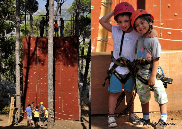 free climbing for children in La Maison de la Foret