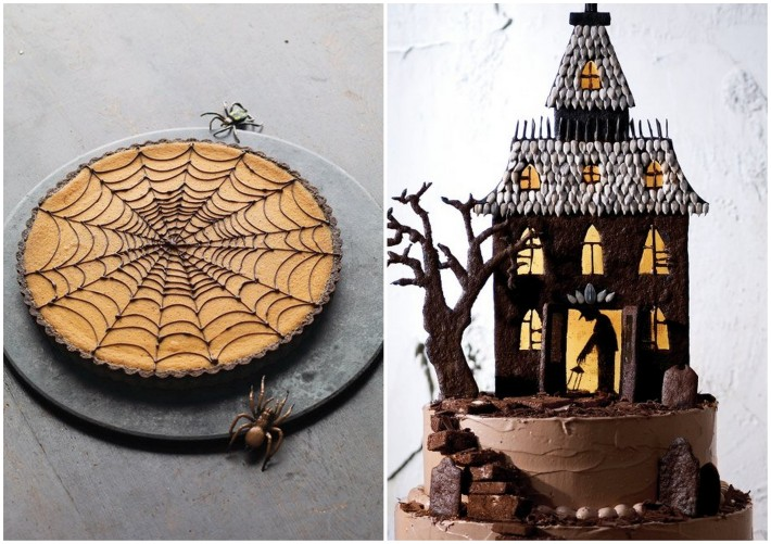 chocolate haunted cakes for halloween
