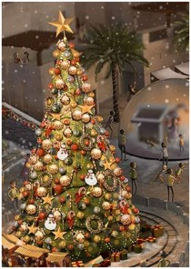 Christmas market in Dubai