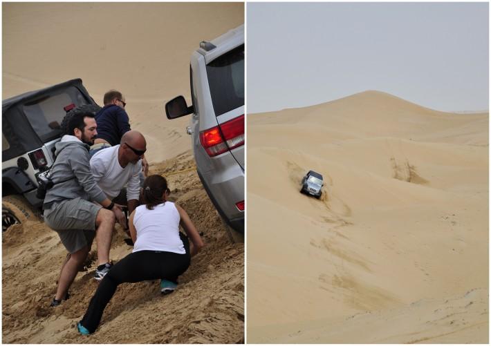 car rescue in a desert
