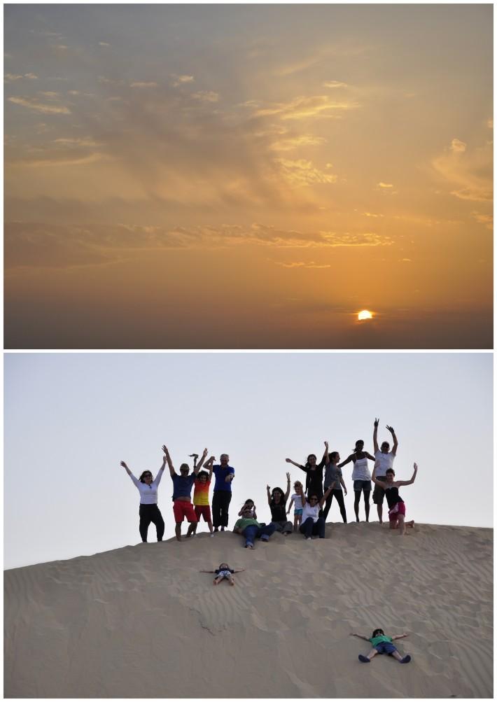 friends in a desert