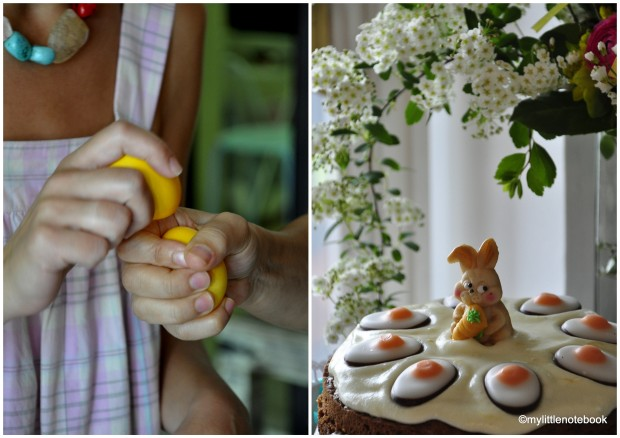 Easter cake decorations, carrot cake for easter