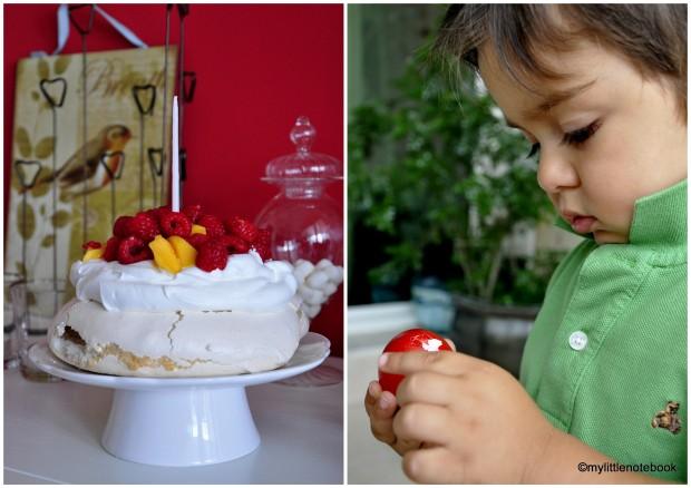 Pavlova cake for Easter