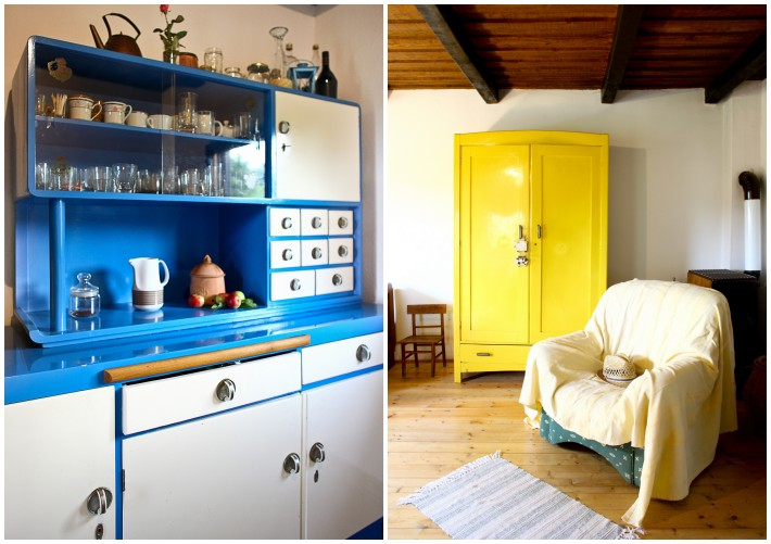 wooden cottage in croatia decorated in vintage style