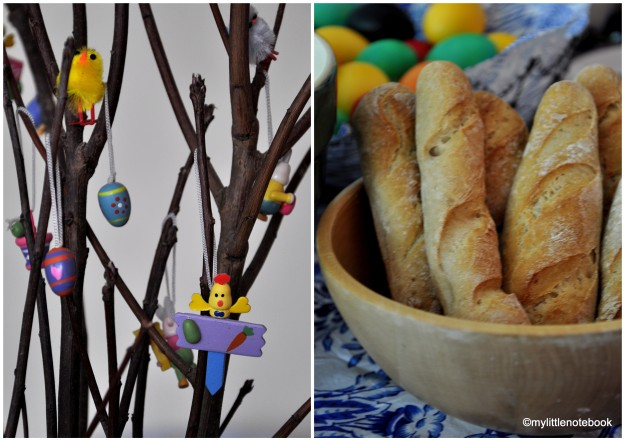 easter decorations, easter bread