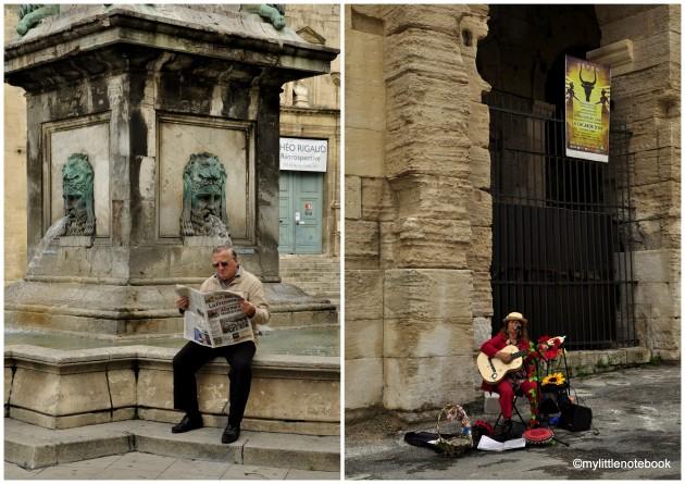 people of France, streetlife of Arles