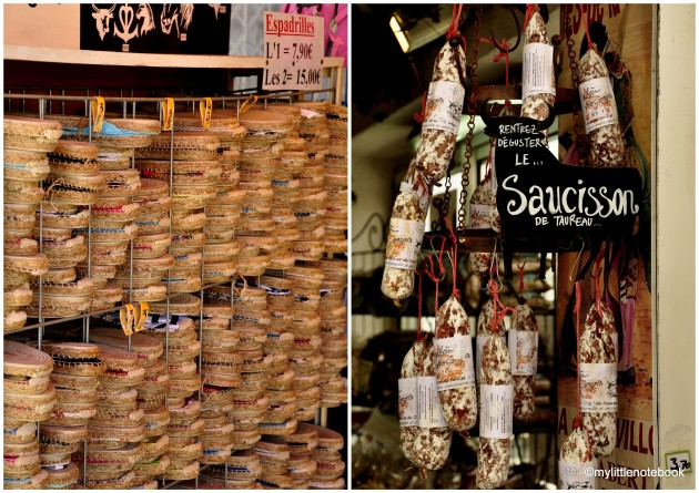 what to buy in France, sausages and espadrilles