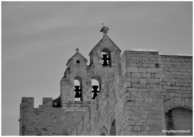church in black and white photo