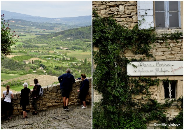 tourists in gordes in france