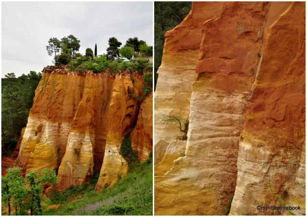 red rocks in roussillon
