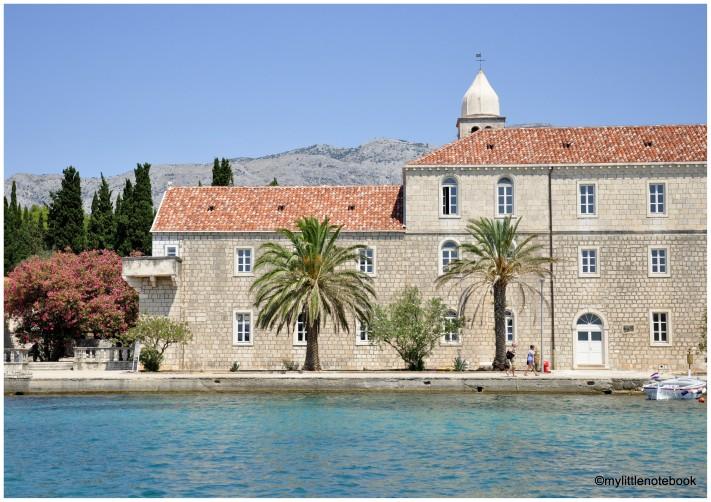 former Monastery on Badija island in Croatia
