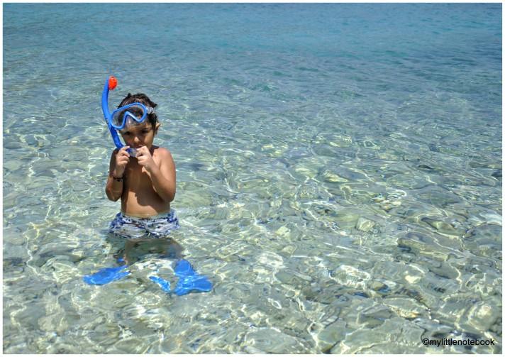 snorkelling with little children