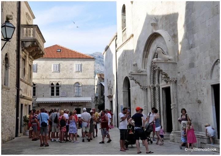 Korcula town in summer