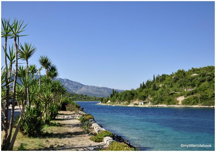 bays of Korcula island in Croatia