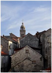 stone houses in korcula croatia