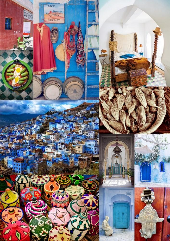 Mood board Morocco