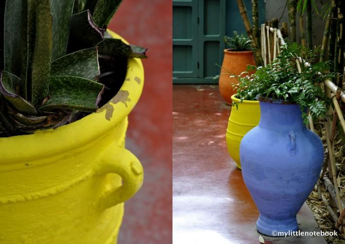 colorful garden pots